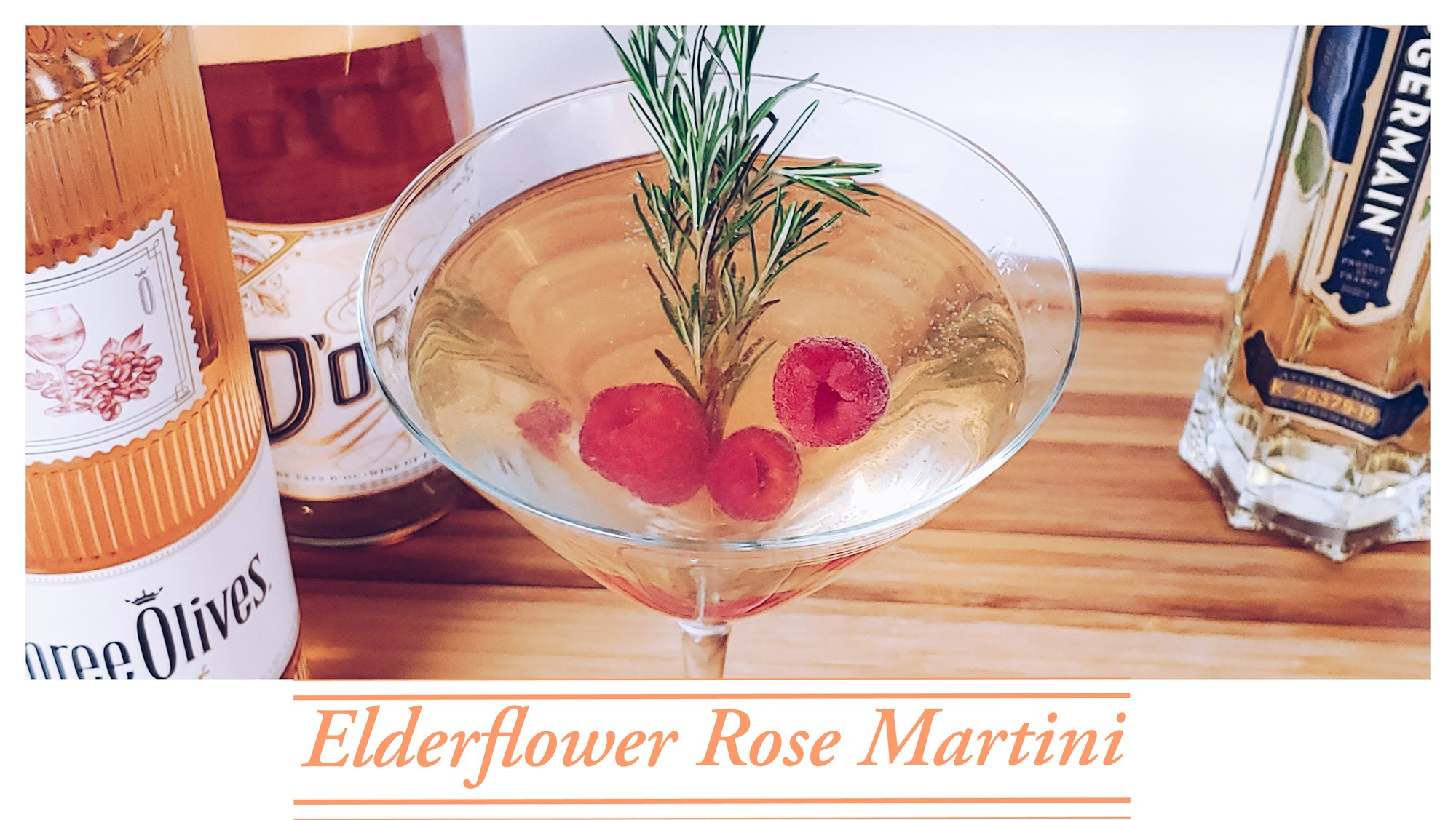 Easy Elderflower Rose Martini Recipe